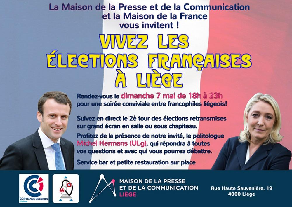 Vivez les élections françaises à Liège