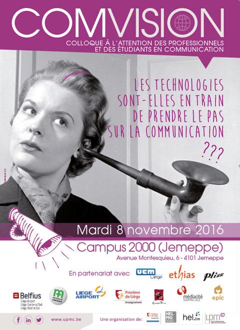 COMVISION<br/>Mardi 8 novembre 2016 – Campus 2000 (Jemeppe)