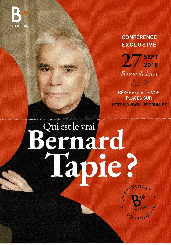Conférence Exclusive: Qui est le vrai Bernard Tapie ?
